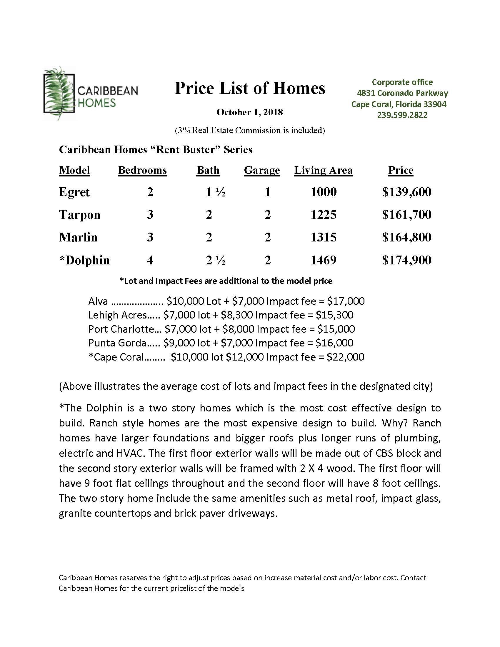 Rent Buster Price List doc